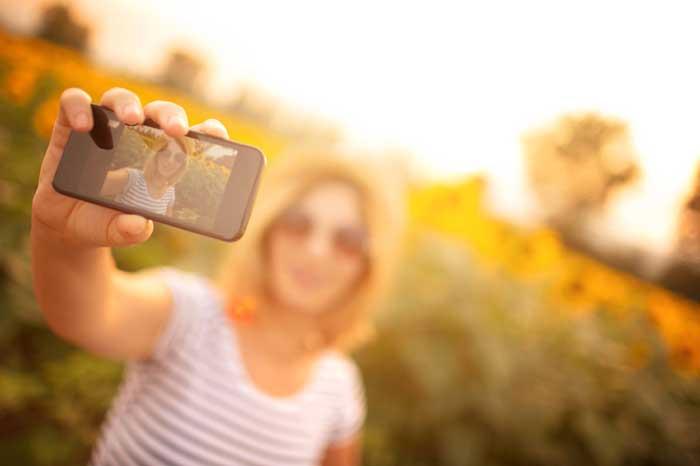 online learning experience selfie