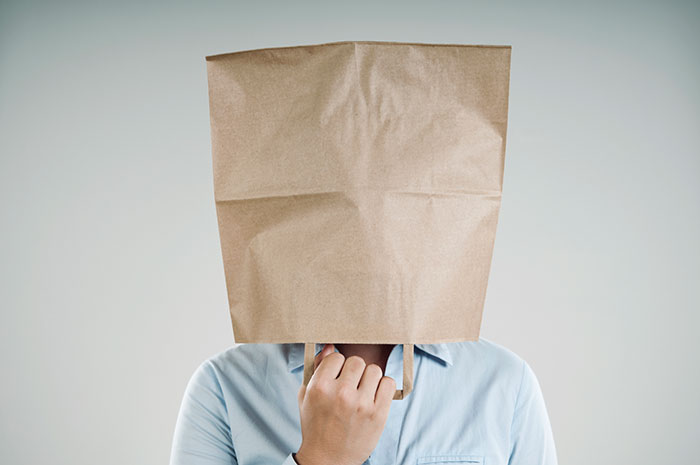 Bag over head stigma of an online student