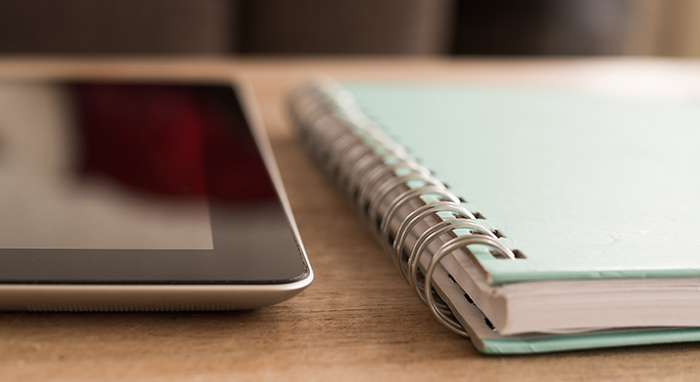ipad and planner