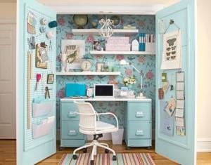 closet desk blue
