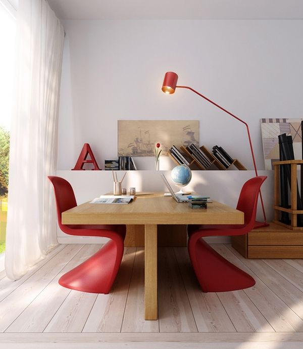lovevly-desk-pantone-red-chairs